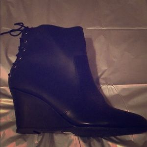 Shoes - Sexy black lace up boots